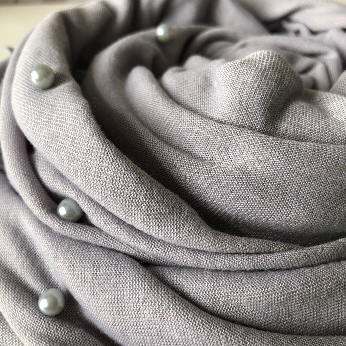 Pearl Jersey Hijab | Silver Grey - Mohuma Modesty House