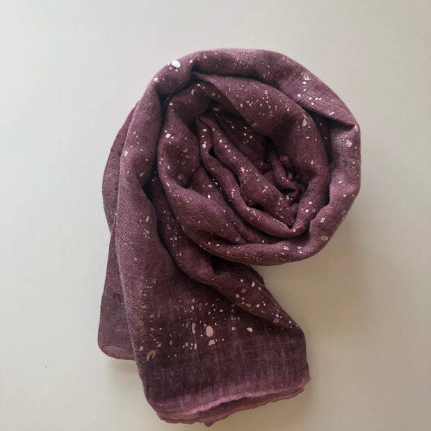 Crushed Glitter Hijab | Dusty Rose - Mohuma Modesty House