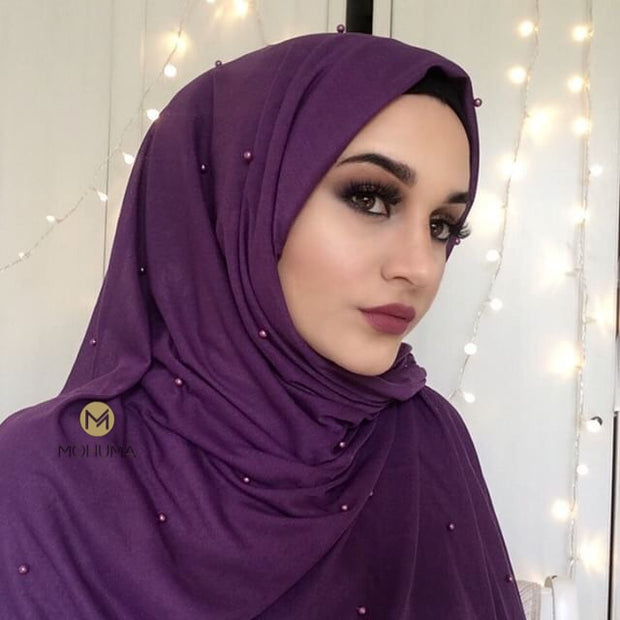 Pearl Jersey Hijab | Aubergine - Mohuma Modesty House