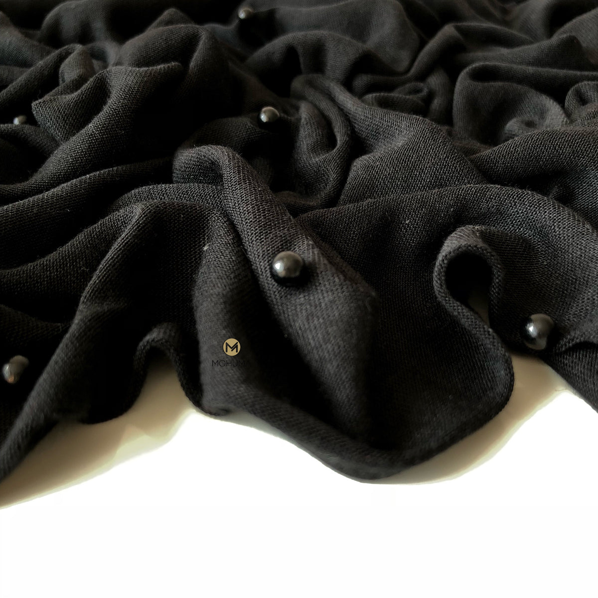 Pearl Jersey Hijab | Black - Mohuma Modesty House