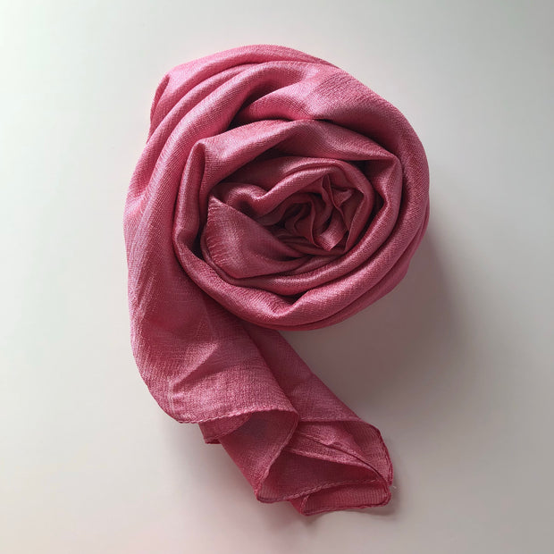 Silk Blend Hijab | Rose Pink - Mohuma Modesty House