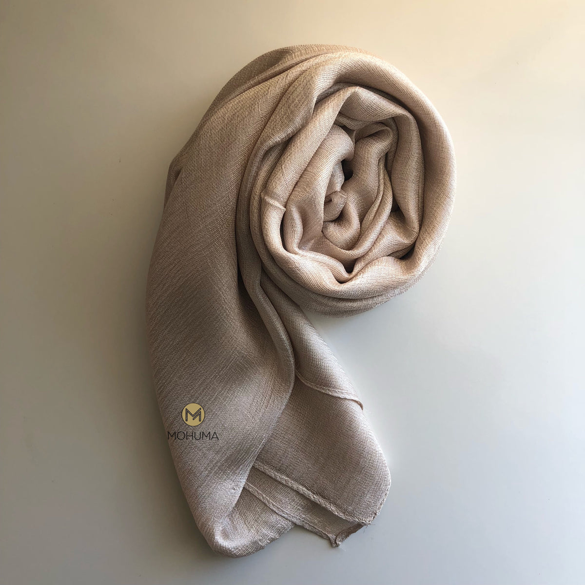 Silk Blend Hijab | Cream - Mohuma Modesty House