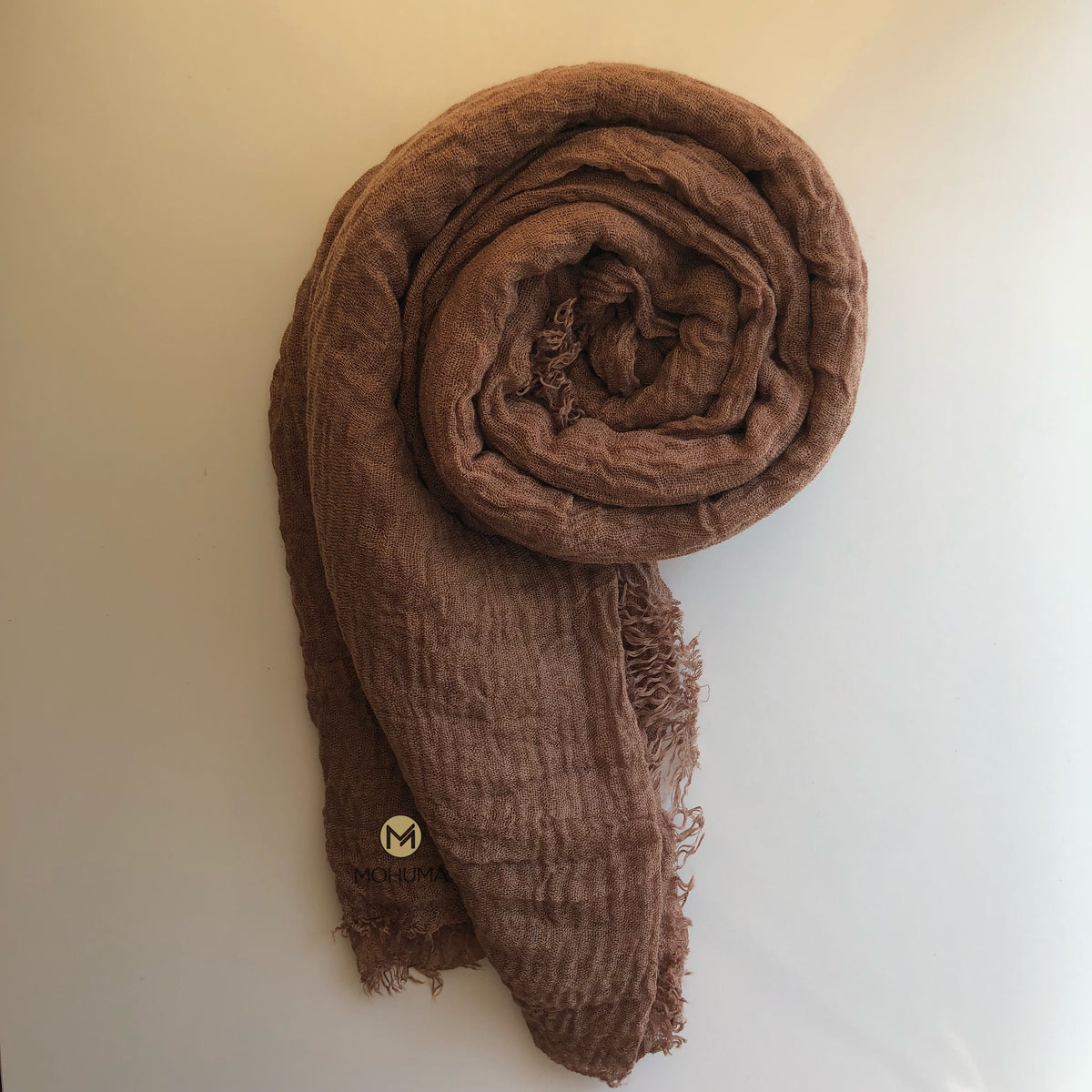 Soft Crinkle Hijab | Brown - Mohuma Modesty House