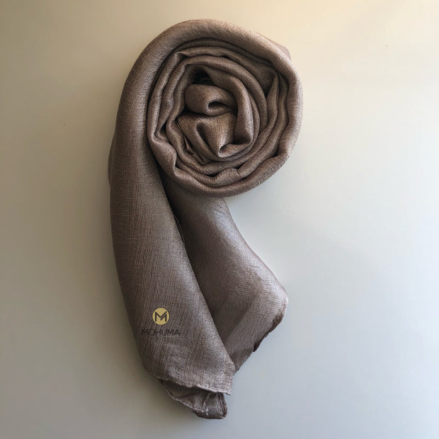 Silk Blend Hijab | Bronze - Mohuma Modesty House