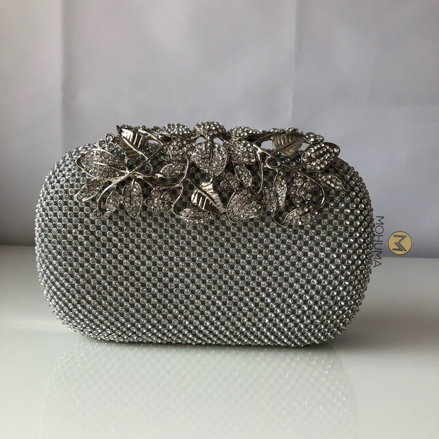 Evening Clutch Bag | Silver - Mohuma Modesty House
