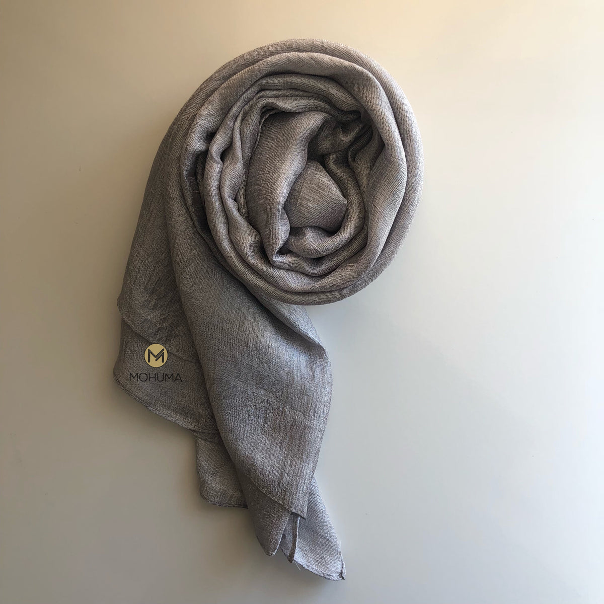 Silk Blend Hijab | Silver Grey - Mohuma Modesty House