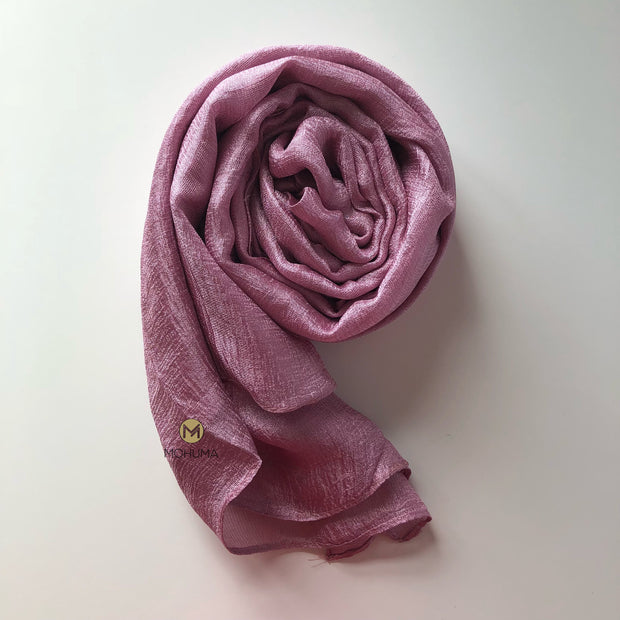 Silk Blend Hijab | Dusty Purple - Mohuma Modesty House