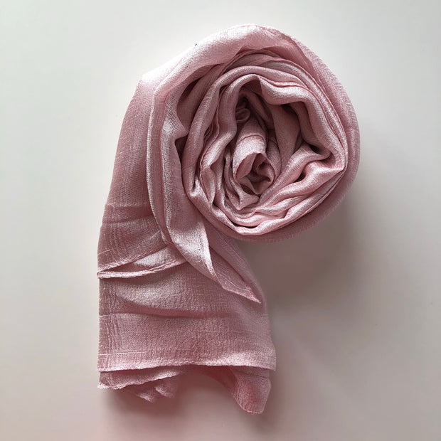 Silk Blend Hijab | Baby Pink - Mohuma Modesty House