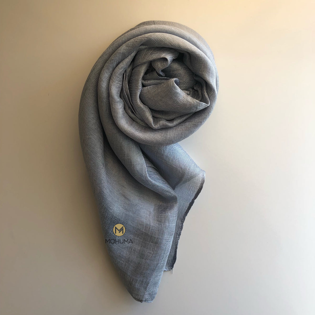 Silk Blend Hijab | Silver - Mohuma Modesty House