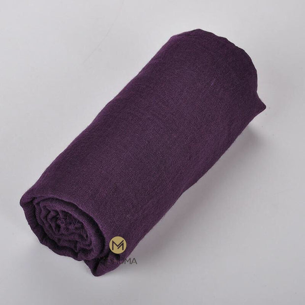 Premium Breathable Cotton Blend Hijab | Aubergine - Mohuma Modesty House
