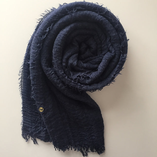 Soft Crinkle Hijab | Denim Blue - Mohuma Modesty House
