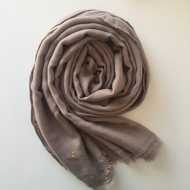 Premium Breathable Cotton Blend Hijab | Mink - Mohuma Modesty House