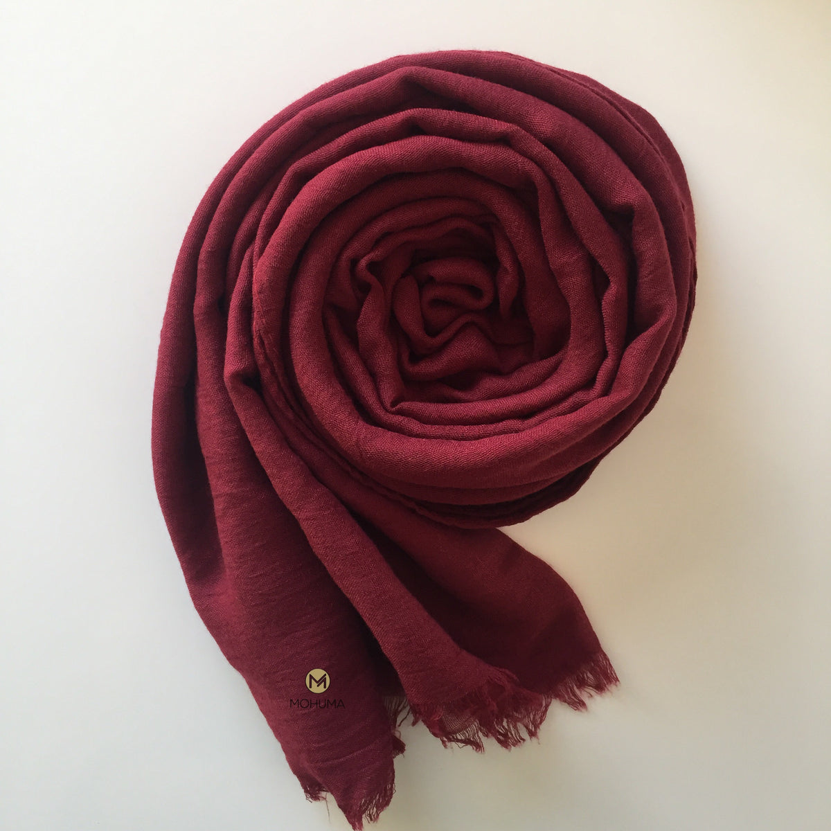 Premium Breathable Cotton Blend Hijab | Maroon - Mohuma Modesty House