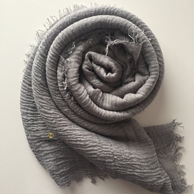 Soft Crinkle Hijab | Soft Grey - Mohuma Modesty House