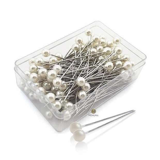 White Pearl Head Hijab Pins | 100pcs - Mohuma Modesty House