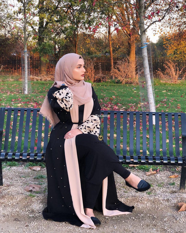 Marwa Lace Abaya | Black - Mohuma Modesty House