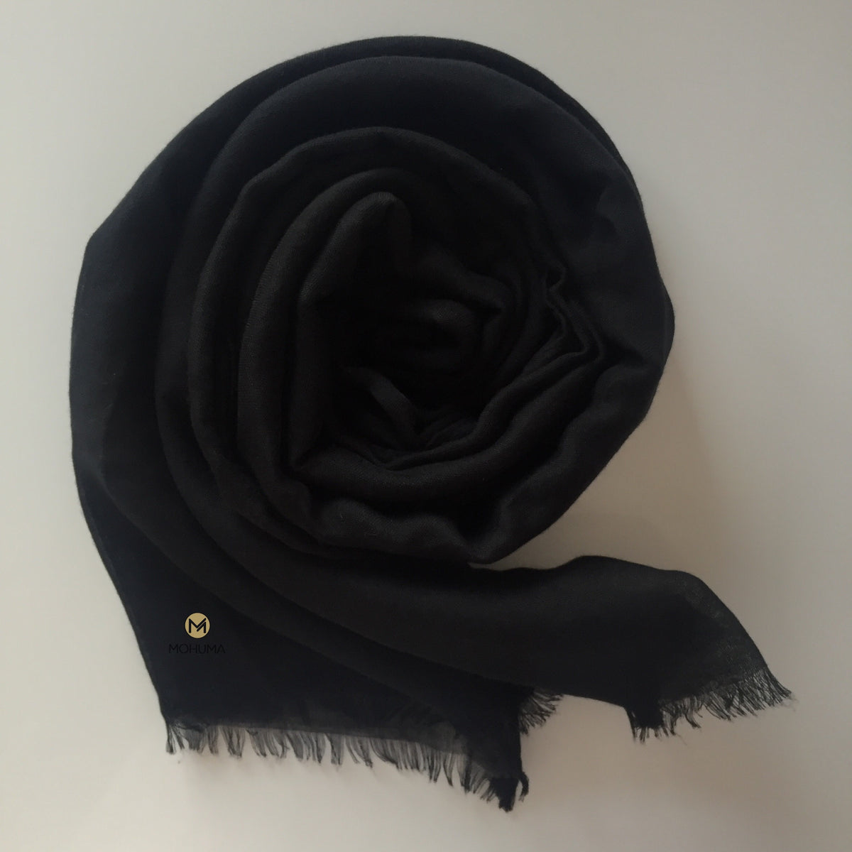 Premium Breathable Cotton Blend Hijab | Black - Mohuma Modesty House