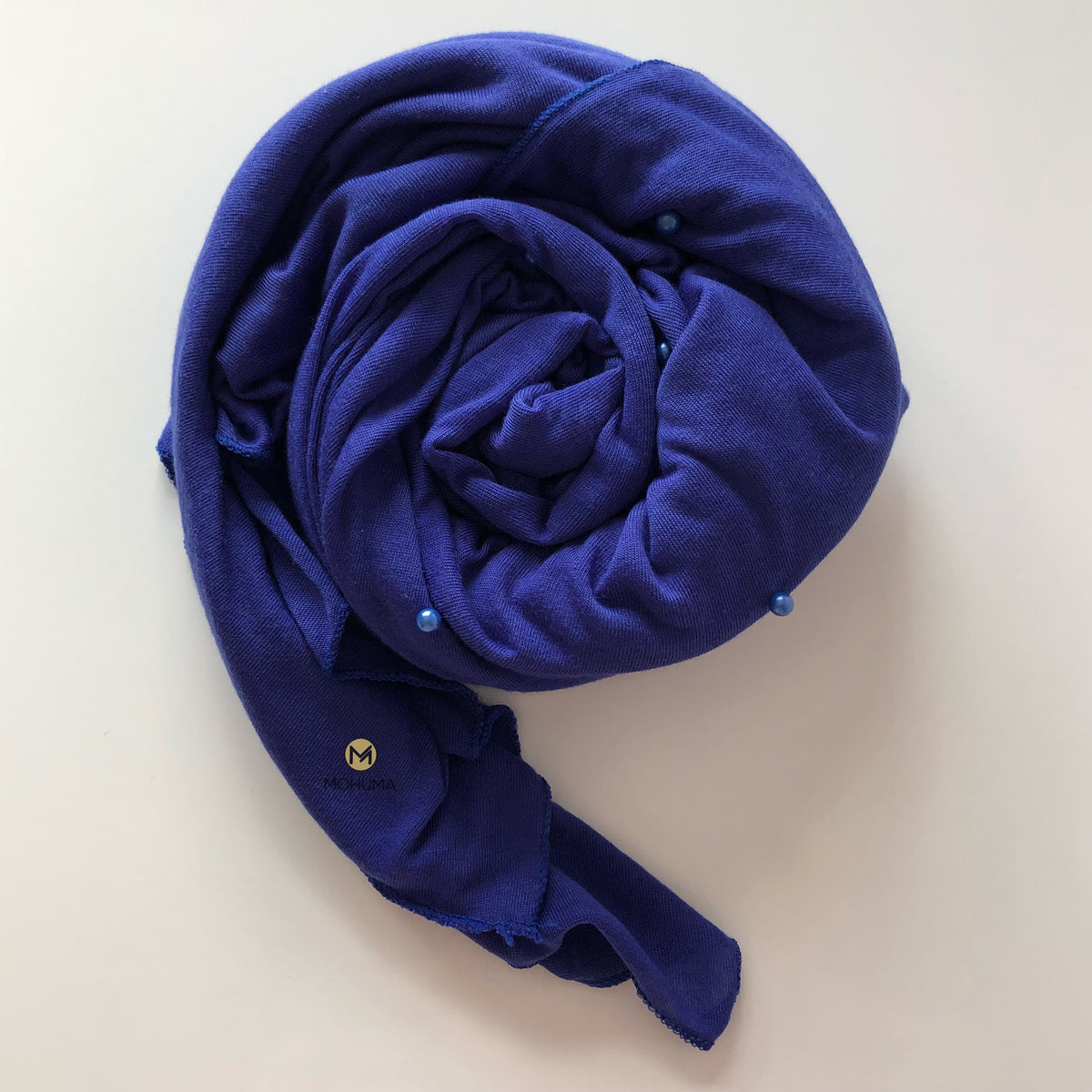 Pearl Jersey Hijab | Royal Blue - Mohuma Modesty House