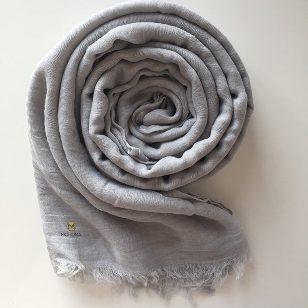 Premium Breathable Cotton Blend Hijab | Dove Grey - Mohuma Modesty House