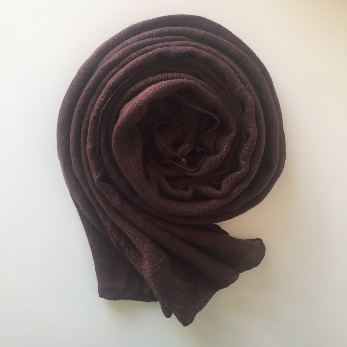 Premium Breathable Cotton Blend Hijab | Dark Chocolate - Mohuma Modesty House