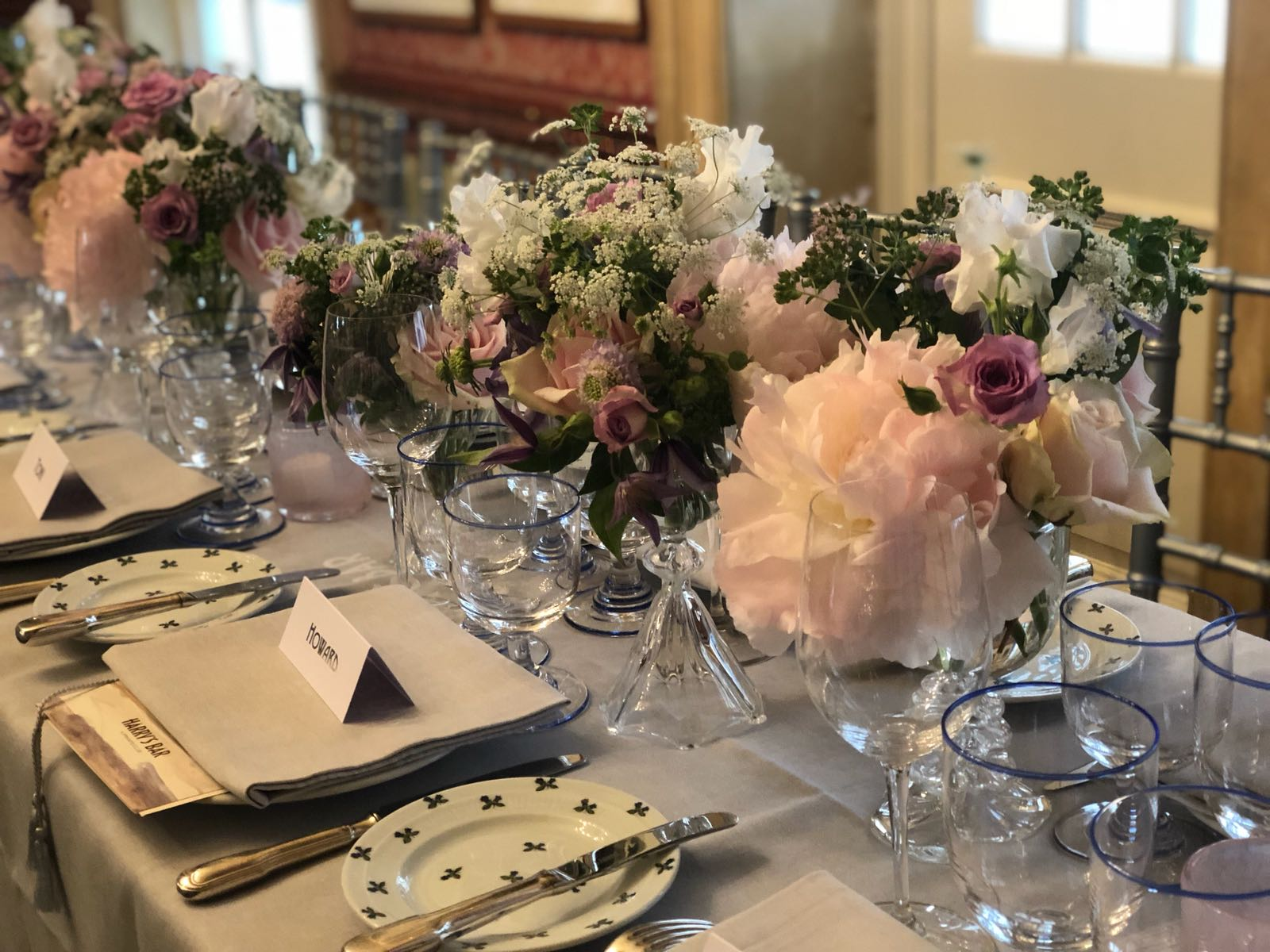 A Beautifully Elegant Wedding Reception At Members Club,  Harry's Bar