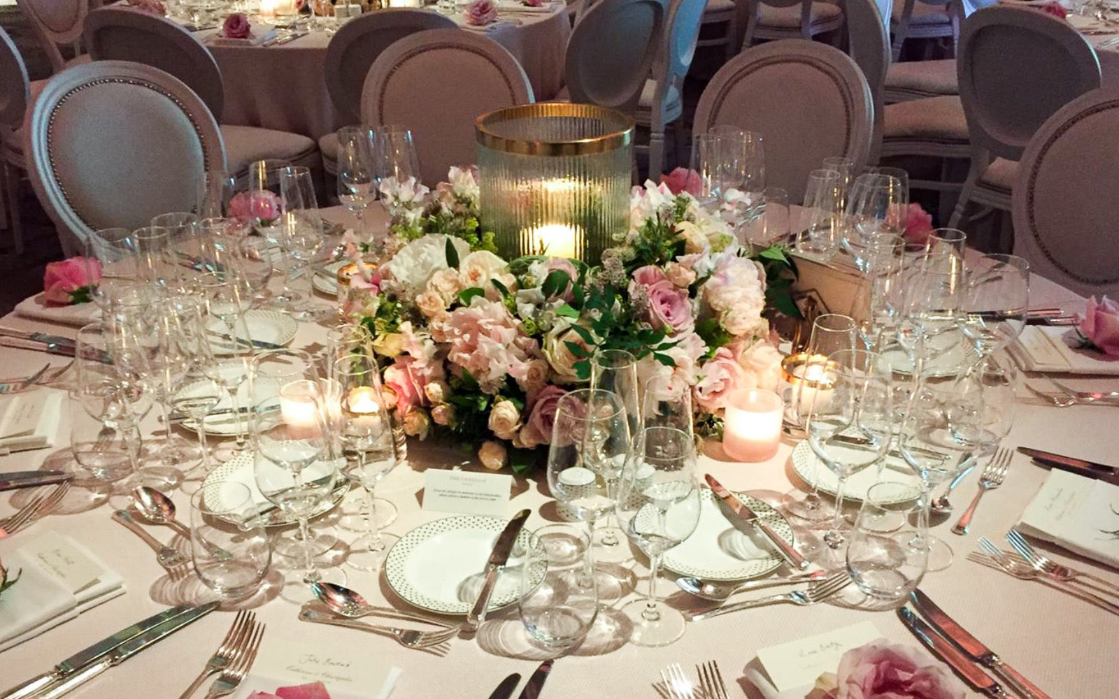 Delicate pinks at The Langham, London