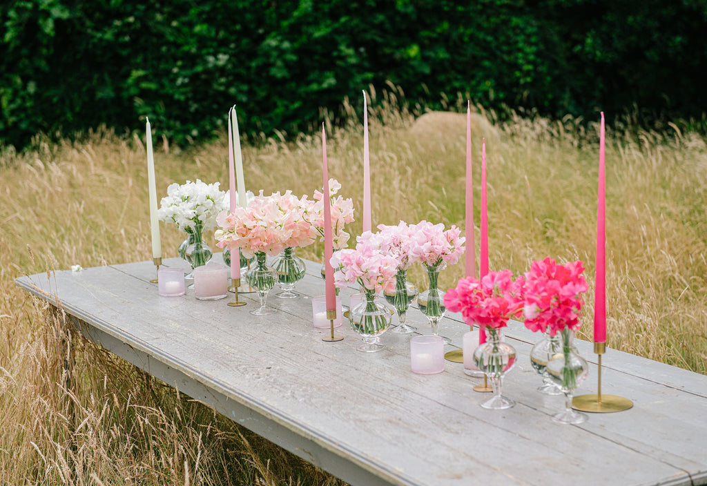 Ombre Pink Table Setting
