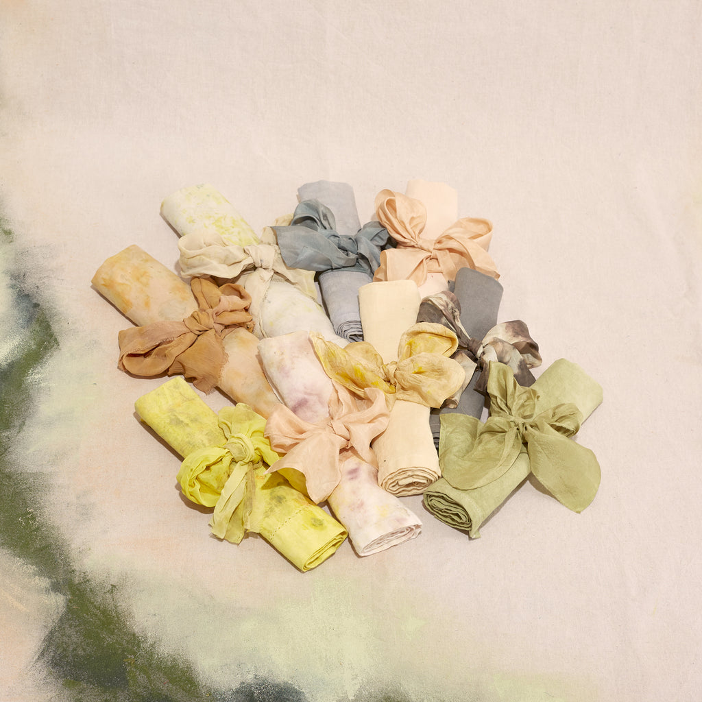 Natural Dye Linen Napkins