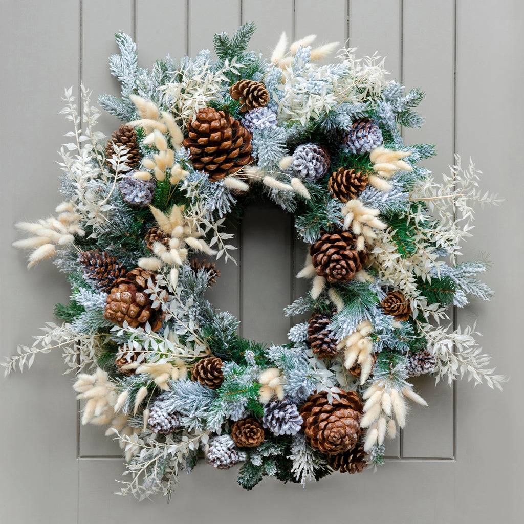 Frosted Garden Everlasting Wreath