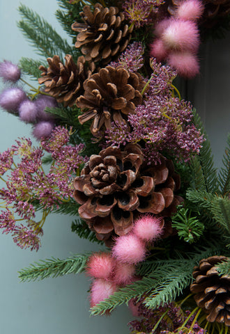 Pinks & Pine Everlasting Wreath