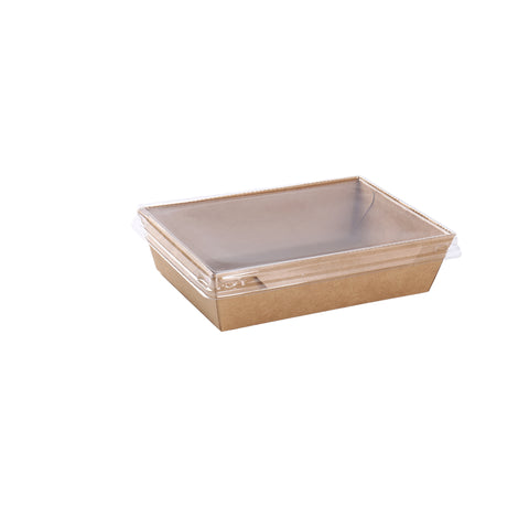 40oz Kraft Container with PET Lid - 100 Units