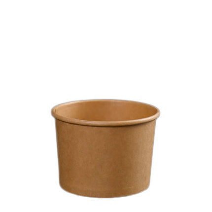 12oz Kraft Soup Bowl with Lid - 500 Units