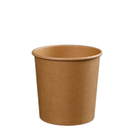 16oz Kraft Soup Bowl with Lid - 500 Units