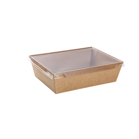 71oz Kraft Container with PET Lid - 200 Units
