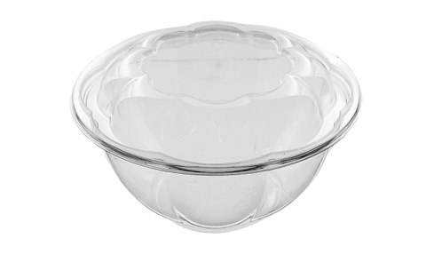 24oz PLA Compostable Bowl with Lids - 200 Units -