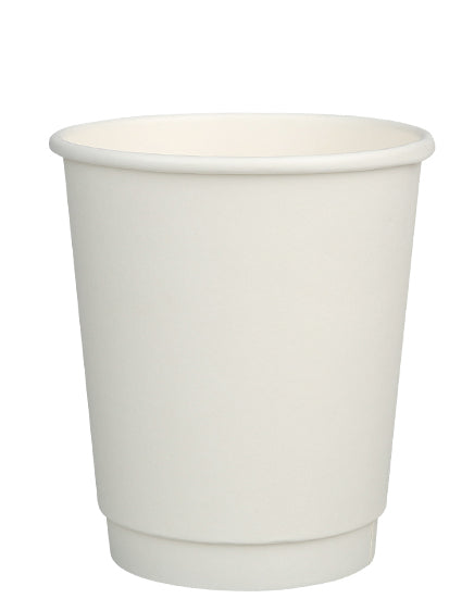 8oz Compostable Double Wall Cup with CPLA Lid -