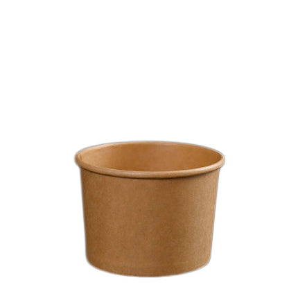 8oz Kraft Soup Bowl with Lid - 500 Units