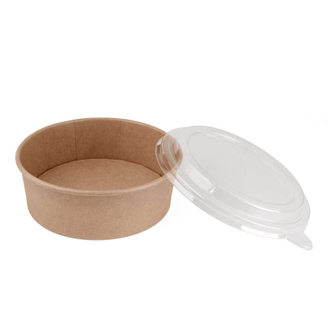 26oz Kraft Bowl with PET Lid - 300 Units -
