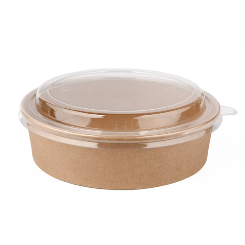 20oz Kraft Bowl with PET Lid - 360 Units