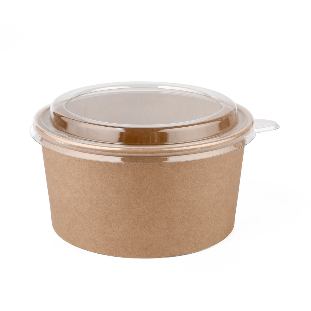 36oz Kraft Bowl with PET Lid - 300 Units