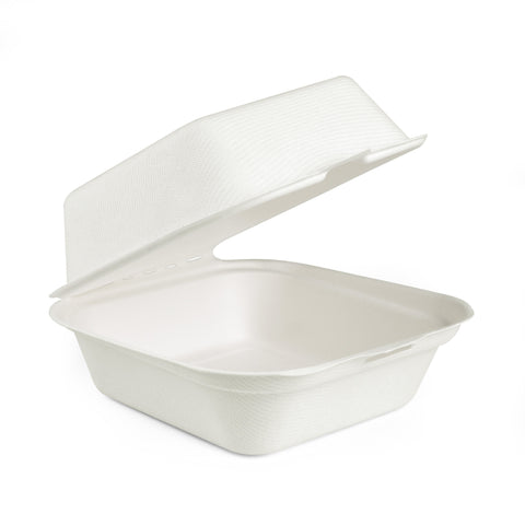 Bagasse Clamshell Containers -