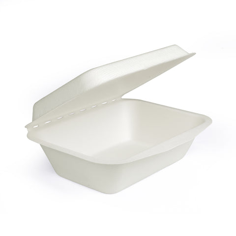 50 Pieces 600ml Clamshell Container