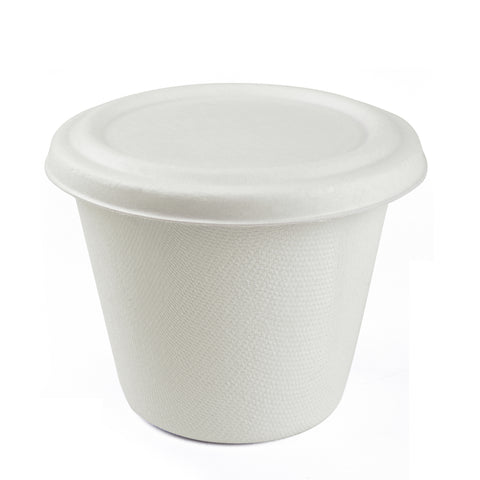425ml Bagasse Bowl with Lid -500 Units