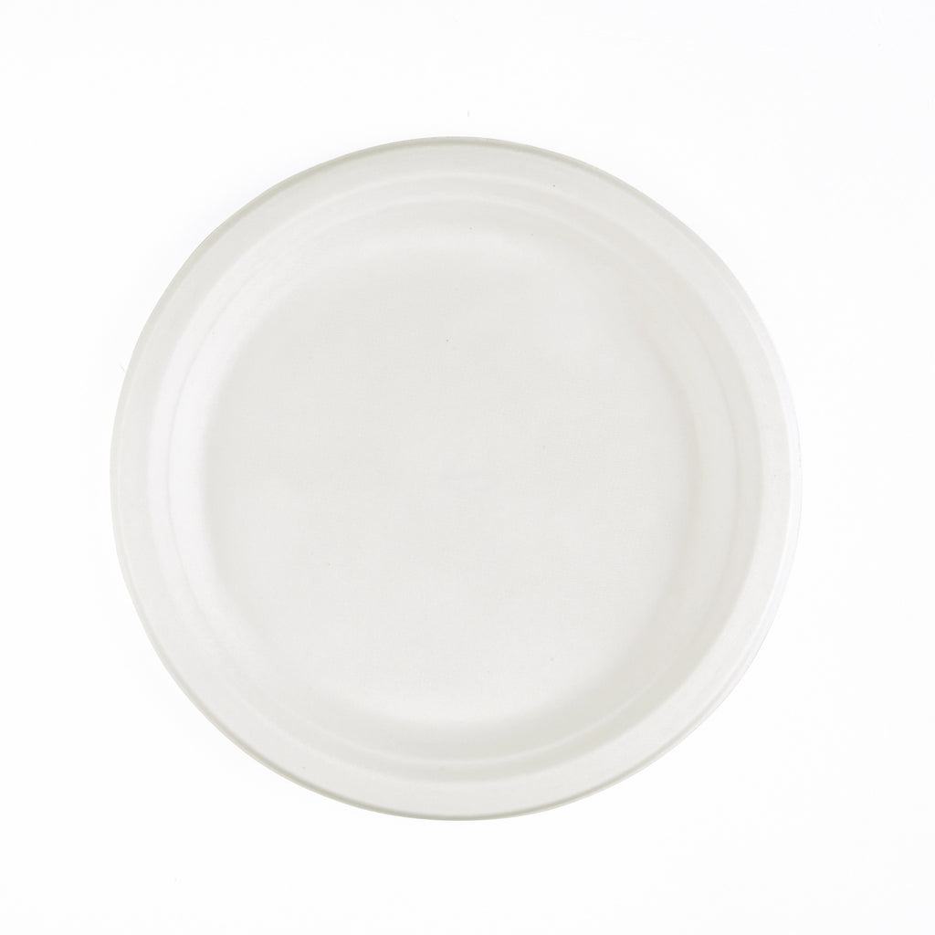 9inch Bagasse Round Plate - 1000 Units