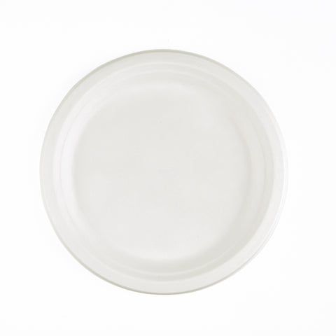 50 pieces 9inch White Bagasse Plates -