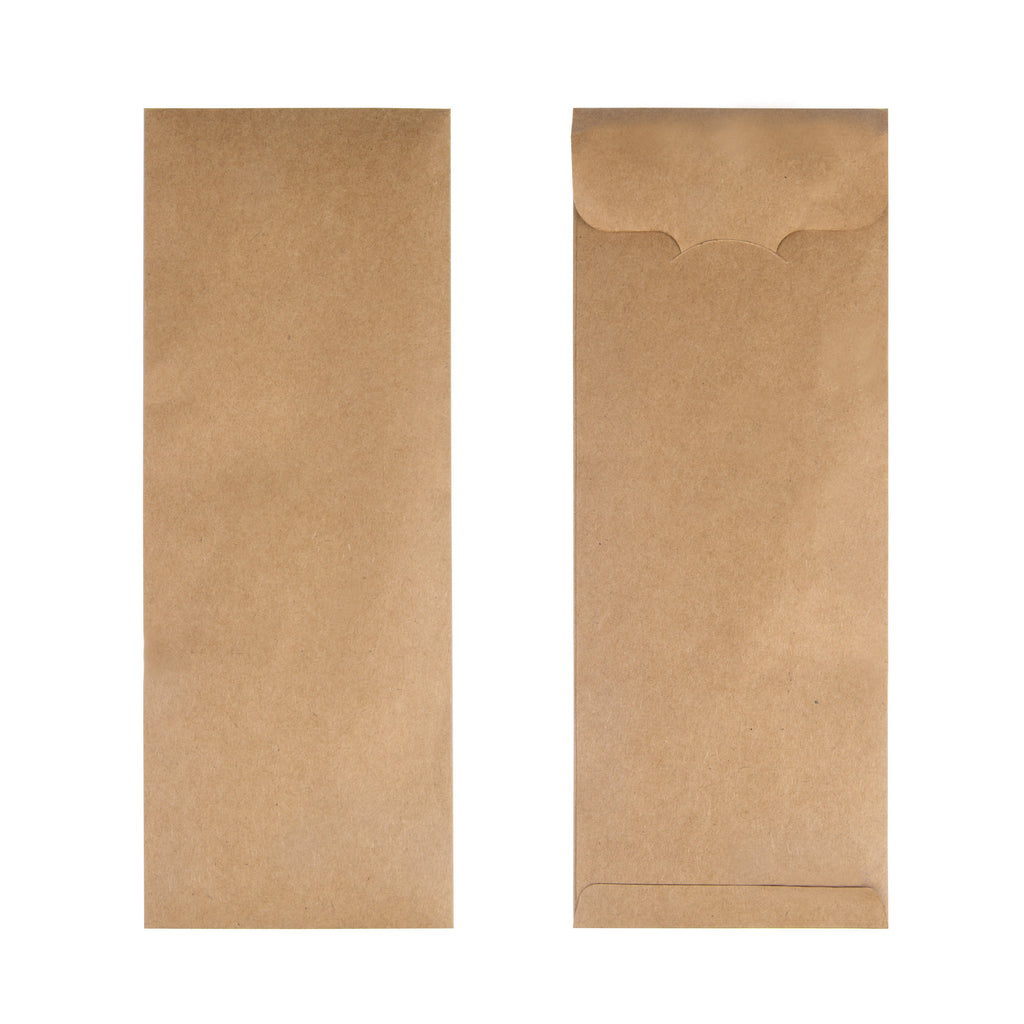 Kraft Brown Cutlery Pouch - 1000 Units -