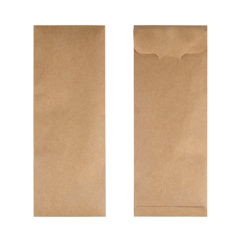 Kraft Brown Cutlery Pouch - 1000 Units