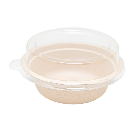 350ml Bagasse Bowl with Lid - 900 Units -