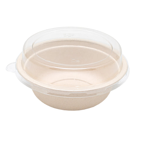 500ml Bagasse Bowl with Lid - 600 Units -
