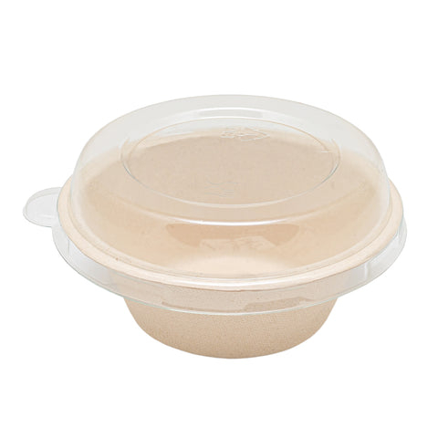 250ml Bagasse Bowl with Lid - 3000 Units -